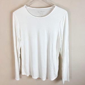 Chico's Plain White Long Sleeve Shirt
